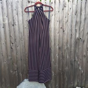 Tommy Hilfiger Navy Blue Striped Jumpsuit Small
